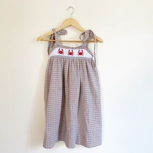 Kelly's Kids Boutique Sundress Beach Crabs smocked